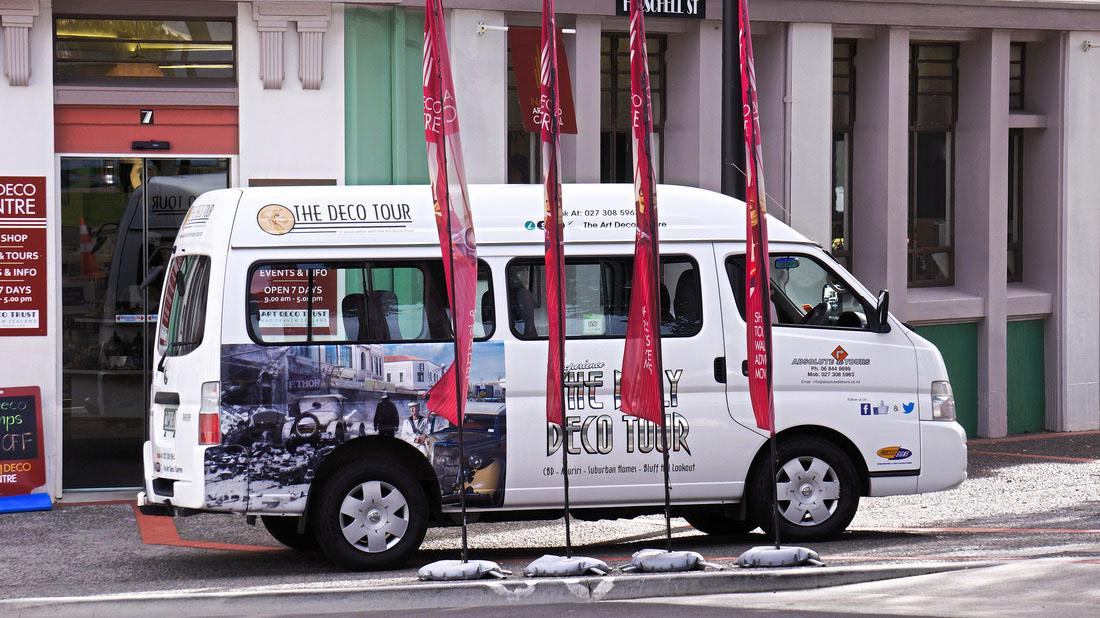 Our comfortable air conditioned mini bus