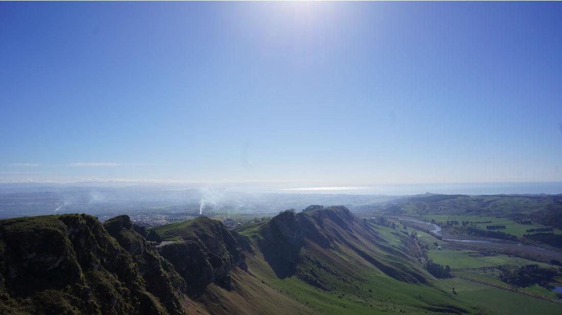 Enjoy spectacular views from Te Mata Peak, the highest point in Hawkes Bay